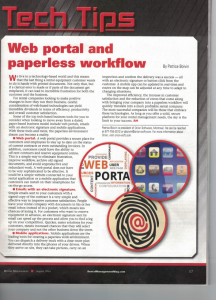 Web portal and paperless workflow
